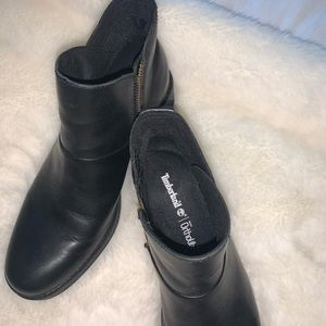 Timberland Heeled Black Boots